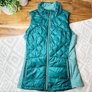 LILULEMON Down For A Run Puffer Vest Teal